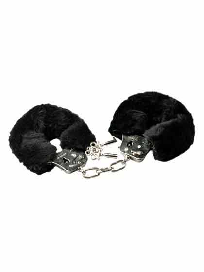 BLACK FUR CUFFS PLUSH