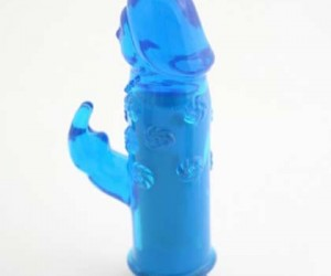 BLUE JELLY MINI RABBIT VIBRATOR