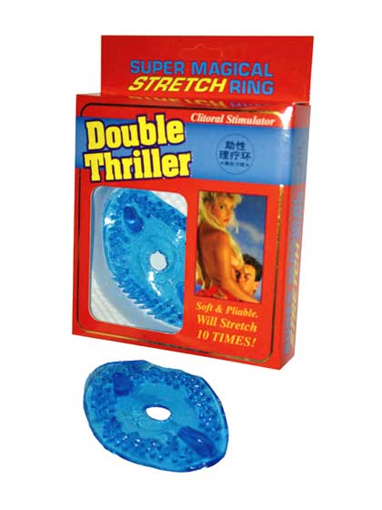 DOUBLE THRILLER CLIT STIMULATOR BLUE