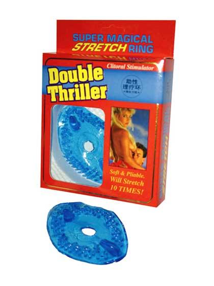 DOUBLE THRILLER CLIT STIMULATOR BLUE