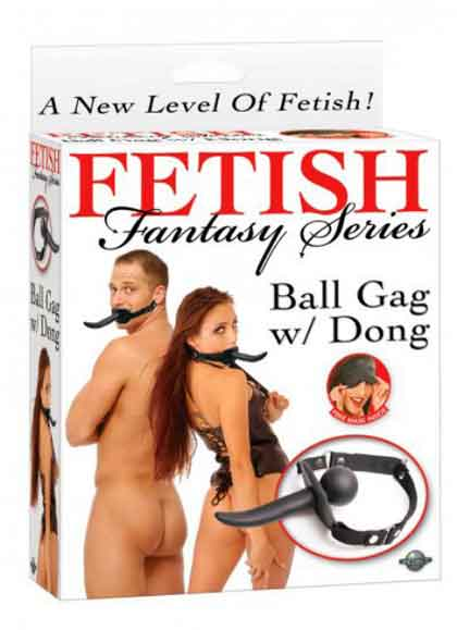 FETISH BALL GAG WITH DONG