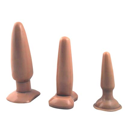 VANILLA BUTT PLUG SET IN 3 SIZES