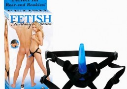 FETISH FANTASY 4.5 INCH BEGINNERS STRAP-ON FOR HIM BLUE