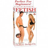 FETISH FANTASY 6 INCH HOLLOW STRAP-ON BLACK