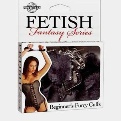 BEGINNERS FETISH FANTASY FURRY CUFFS BLACK