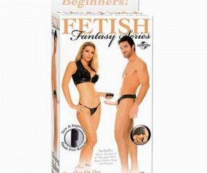 6 INCH FETISH FANTASY VIBRATING HOLLOW STRAP-ON FLESH