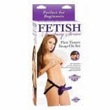 FETISH FANTASY FIRST TIMERS 5 INCH STRAP-ON SET PURPLE