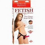 FETISH FANTASY FIRST TIMERS 5 INCH STRAP-ON SET RED