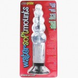 6.5 INCH WATER SOFT MOUNTS UNISEX RIBBED PROBE CLEAR