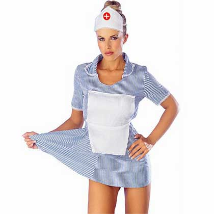 NURSES OUTFIT WITH APRON AND HAT