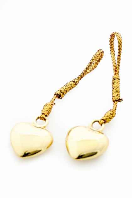 HEART SHAPED GOLD NIPPLE TASSELS