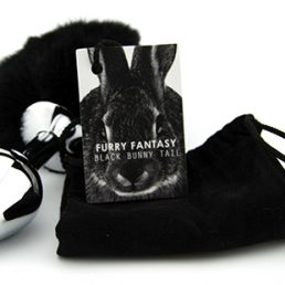 Furry Fantasy Black Bunny Tail Butt Plug